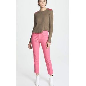 Rag and bone bull pink ankle cigarette size 29